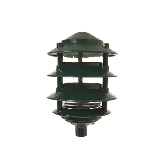 4-Tier-Incandescent-Metallic-Garden-Light,-1/2-in.-NPT-and-18-in.-leads