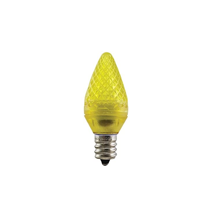 Aurio-Lighting-LED-C7-Light-Bulbs,-E12-Sockets,-Yellow,-Commercial-Grade-Replacement-Lamps,-Christmas-or-Year-Round,-25-Pack