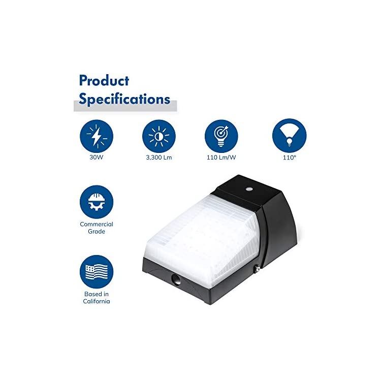 LED-Outdoor-Wall-Light,-30W-Frosted,-Photocell-Dusk-to-Dawn-Mount-Scon