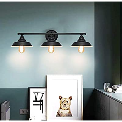 3-Light-Wall-Fixture,-Vanity-Industrial-Mate-Black-Bathroom-Wall-Sconce