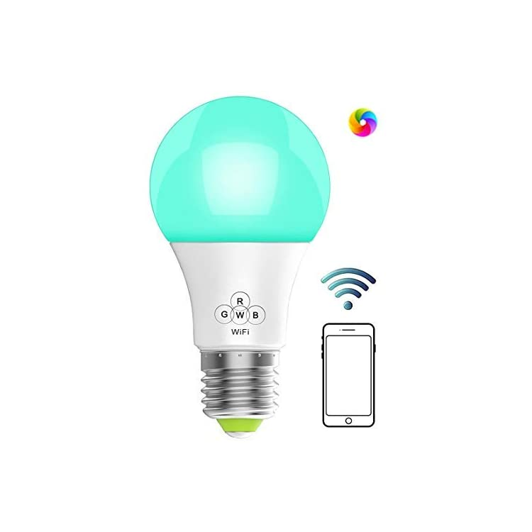 WiFi-Smart-Dimmable-LED-Bulbs,-Music-Sync-RGB-Color-Changing-Light-Bulb,-Compatible-with-Alexa,-Echo,-Google-Home-and-IFTTT,-A19-40W-Equivalent-by-4.5W