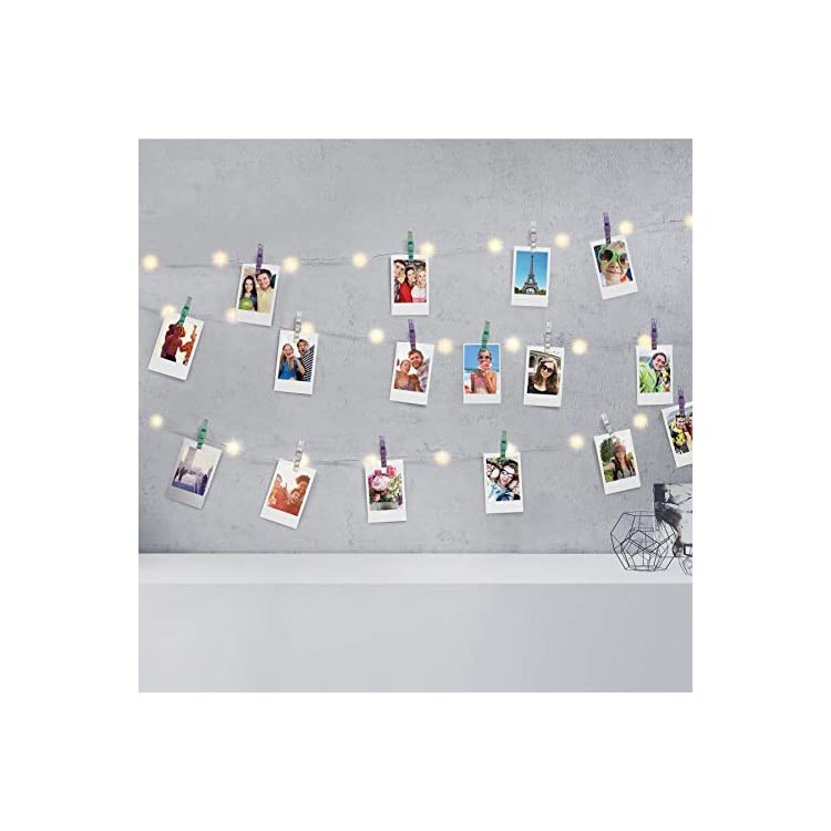 Firefly-LED-Mini-Clip-String-Lights,-36-White-LED-Lights,15ft,-16-Clips,Battery-Operated-for-Photos/Home-Décor/Indoor/Outdoor/Party/Christmas-/Birthday/Wedding/Festival,-Multi-Color-Iridescent-Clips