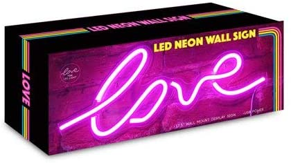 "17.5'-x-7'-inch-LED-Neon-Pink-""Love""-Wall-Sign-for-Cool-Light,-Wall-Ar"