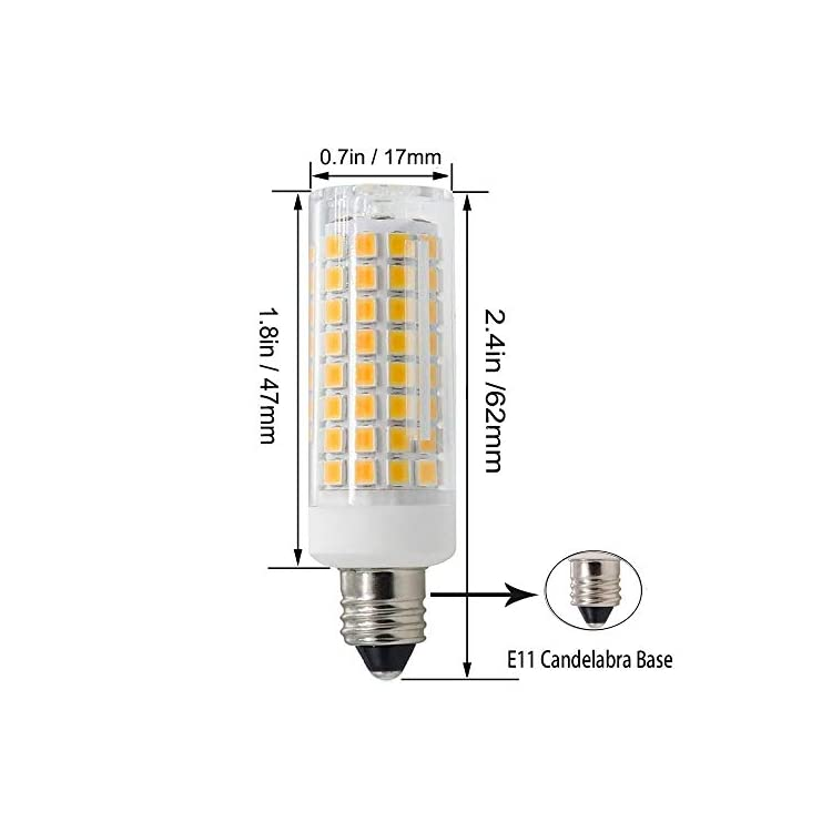E11-Led-Bulbs,-75W-or-100W-Equivalent-Halogen-Replacement-Lights,-850-LM,-Warm-White-3000K,-Dimmable,E11-Mini-Candelabra-Base,-AC110V/-120V/-130V,Replaces-T4-/T3-JD-e11-Light-Bulb-[4-Pack]