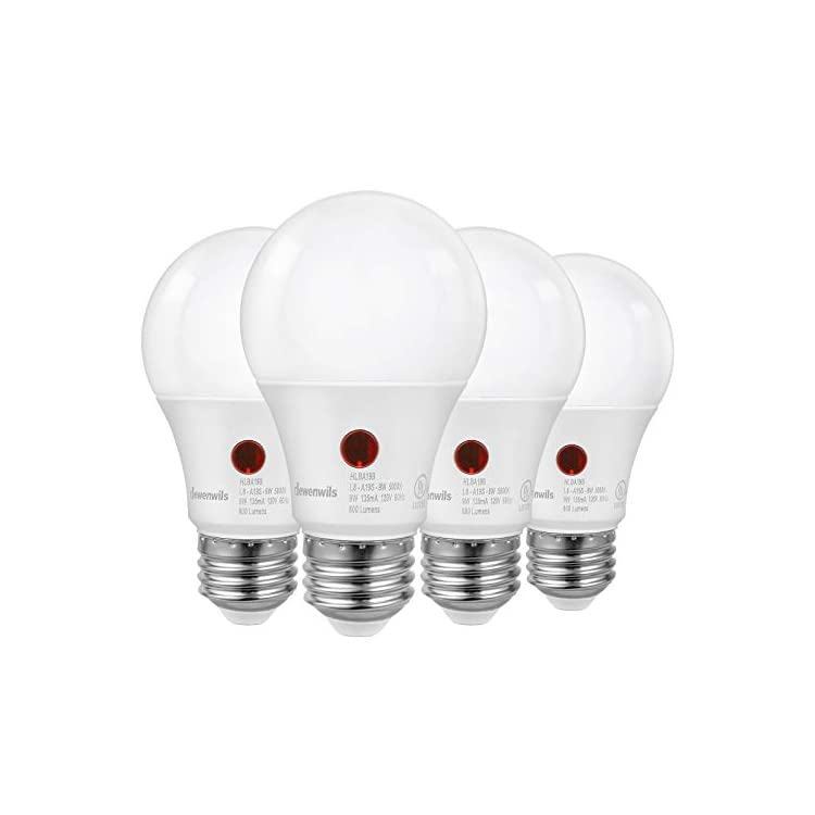 4-Pack-Dusk-to-Dawn-LED-Light-Bulb,-Automatic-On/Off,-Outdoor-A19-Light-Bulbs,-5000K-Daylight,-9W-(60W-Equivalent),-800LM,-LED-Security-Bulb),-LED-Security-Bulbs-for-Porch,-Garage,-UL-Listed