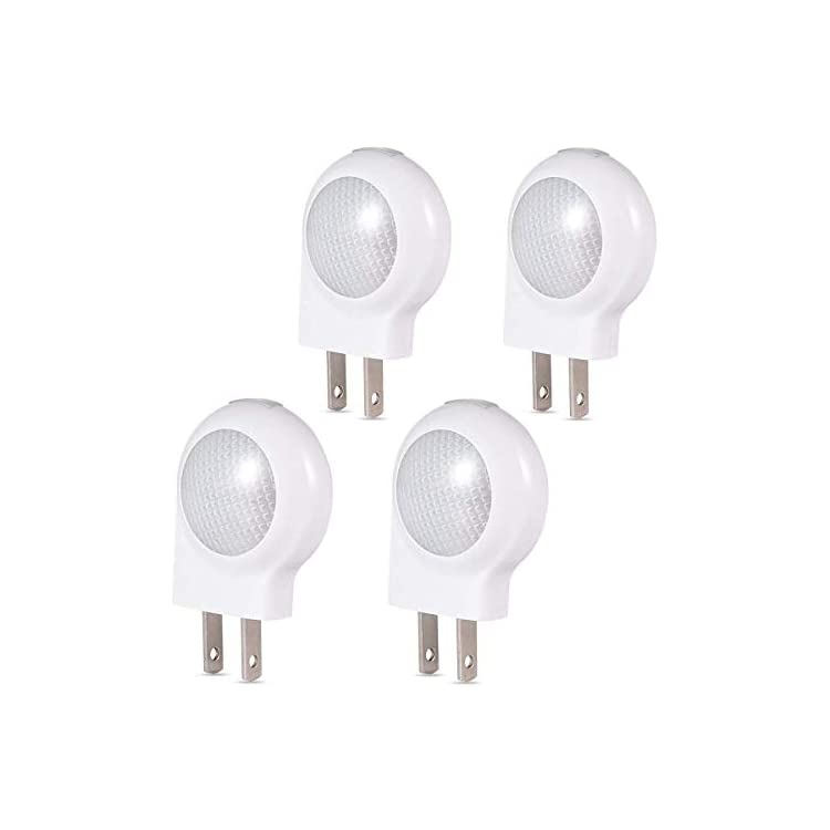 LED-Plug-in-Light-Sensor-Night-Lights-Dusk-to-Dawn-Sensor,-Bedroom,-Bathroom,-Kitchen,-Hallway,-Stairs,-Energy-Efficient,-Compact,4-Pack