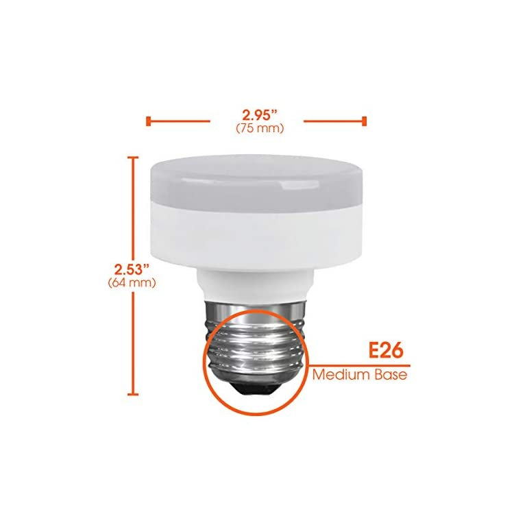 LED-Closet-Puck-Light-Bulb,-Dimmable,-11W-(60W-Replacement),-800-Lumens,-4000K-Cool-White,-E26-Medium-Base,-120V,-UL-Listed-(2-Pack)