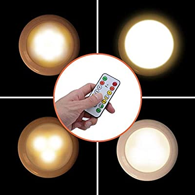 LITAKE-LED-Puck-Lights,Wireless-LED-Under-Cabinet-Lighing,-Remote-Dimmable-LED-Closet-Lights-Battery-Operated,Stick-On-LED-Lights-for-Kitchen-Cabinets-6-Packs