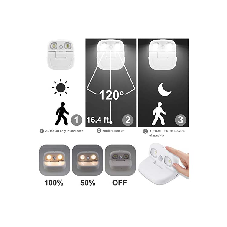 Wireless-LED-Motion-Sensor-Night-Light-with-Motion-ON-OFF-Switch,-USB-Rechargeable-Closet-Light,-Rotatable-Stick-on-Light-for-Picture-Bedroom-Bathroom-Kitchen-Hallway-Stairs-Front-Door-Porch