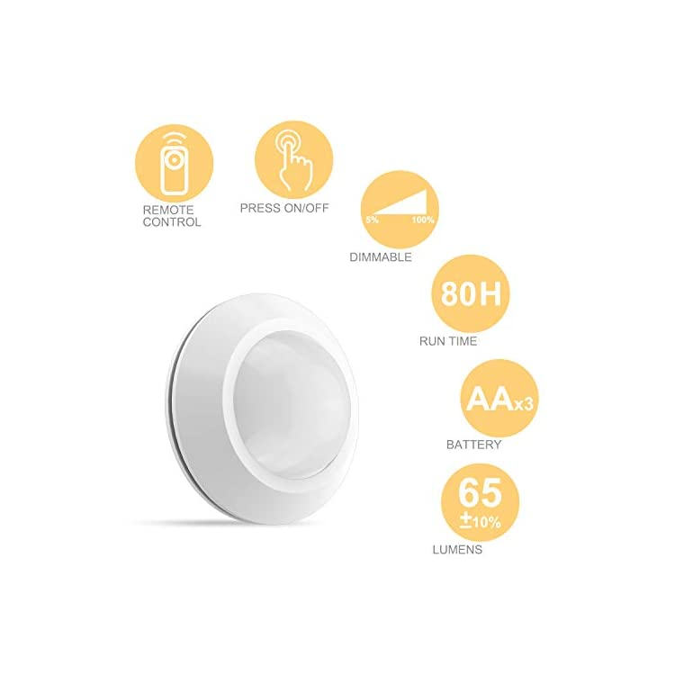 Closet-Light-Battery-Powered-Puck-Lights-Remote-Controlled-Tap-Light,-Push-Lights,-Click-Touch-Light,-Wireless-Cabinet-LED-Lighting,-Stick-Lights-for-Shelf-Kitchen-Counter-(6Pack-Press-Light)