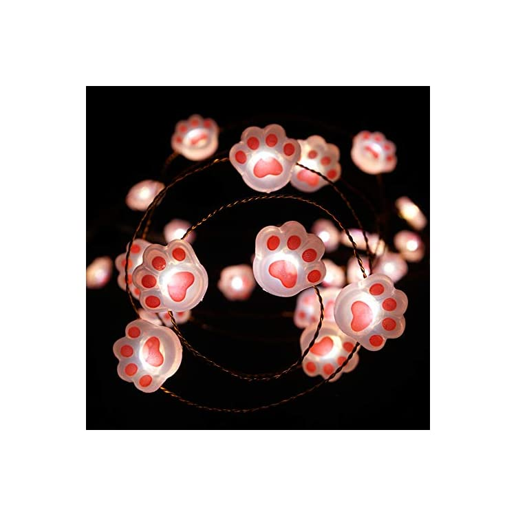 Decorative-Lights-Cat-Claw-String-Lights-Battery-Powered-with-Remote-10-ft-40-LEDs-Cat-Animal-Paw-Print-Fairy-String-Lights-for-Bedroom-Party-Indoor-Decor