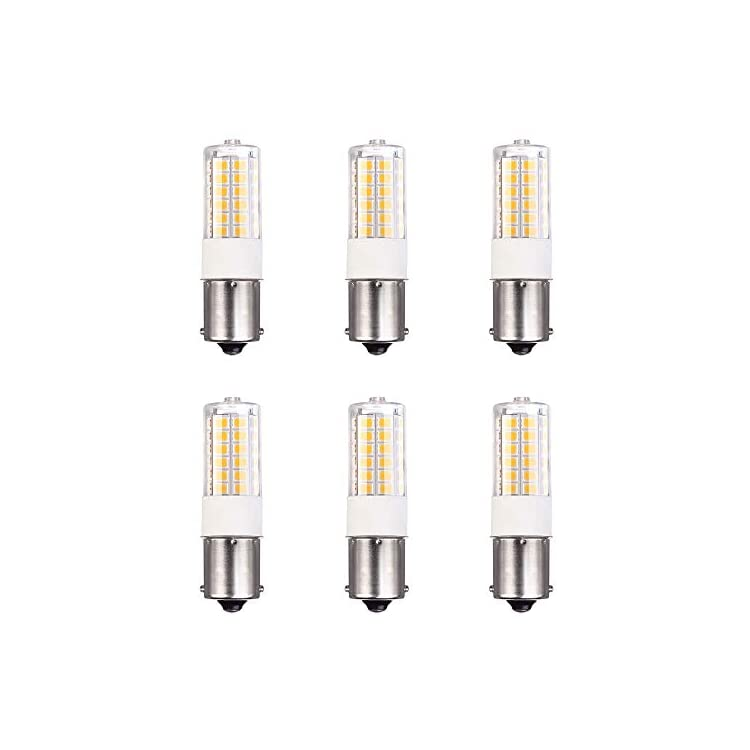 1156-1141-S8-LED-Light-Bulbs-BA15S-SC-Bayonet-Base-Super-Bright-RV-Lights-for-Camper-Trailer-Boat-Motorcycle-Dome-Porch-Sign-Navigation-Lights-Warm-White-12V-30VDC-6-Pack
