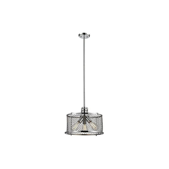 55002/3-Brisbane-Collection-3-Light-Pendant,-W:-16'-H:-12',-Polished-Chrome