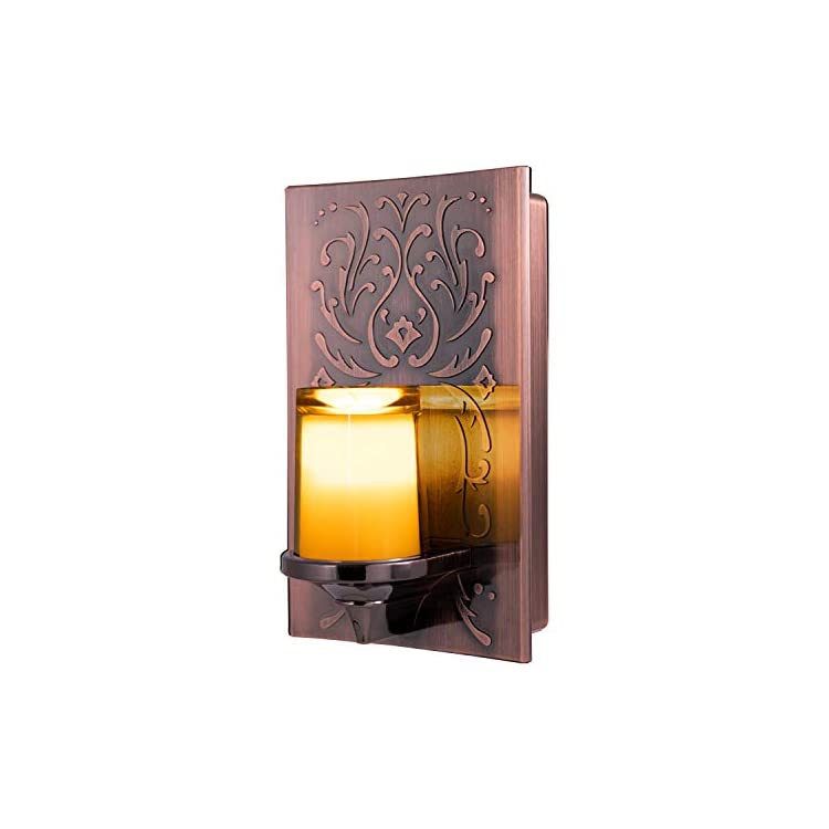 LED-CandleLite-Night-Light,-Plug-In,-Dusk-to-Dawn-Sensor,-Auto-On/Off,-Flickers-Like-a-Real-Candle,-Warm-Amber-Light,-Energy-Efficient,-Guide-Light,-Decorative,-Oil-Rubbed-Bronze-Finish,-11258