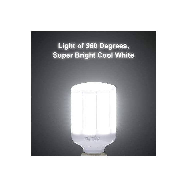 40-Watt-LED-Corn-Light-Bulb(280W-Equivalent),4000-Lumen-6000K,Cool-Daylight-White-LED-Street-and-Area-Light,E26/E27-Medium-Base,for-Outdoor-Indoor-Garage-Factory-Warehouse-High-Bay-Barn-and-More