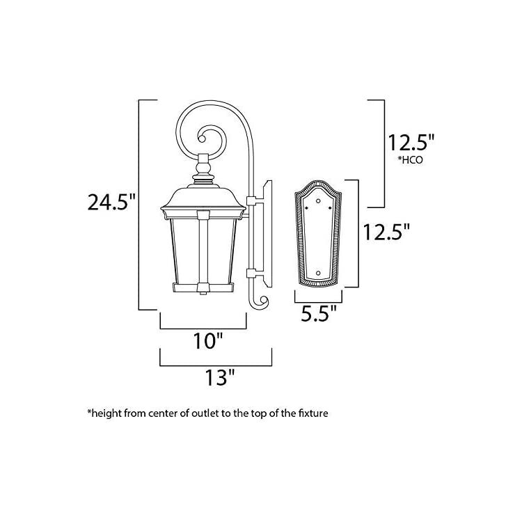 3024CDBZ-Dover-DC---Three-Light-Outdoor-Wall-Mount,-Bronze-Finish