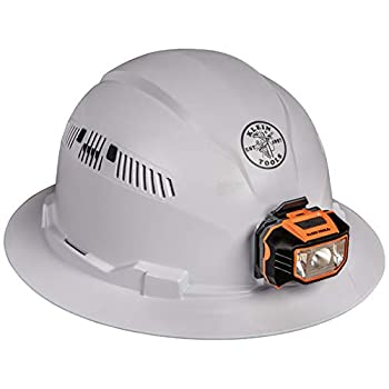 60407-Hard-Hat-with-Light,-Vented-Full-Brim-Style,-Padded,-Self-Wickin