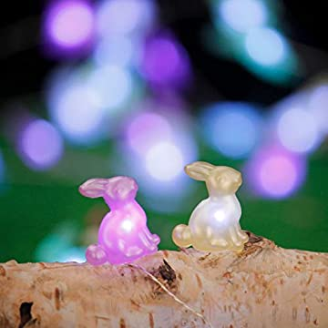 Easter-Rabbit-Bunny-Lights,-Festive-String-Lights-5-Colors-Battery-Operated-with-Remote-for-Indoor-Outdoor-Party-Wedding-Camping,-Birthday-Bedroom-House,-Patio,-Home-Parties-Decor
