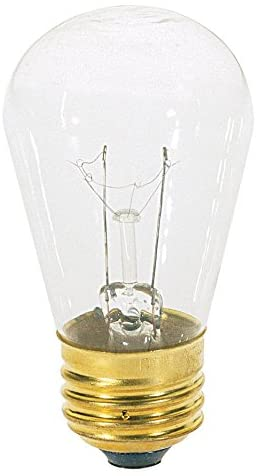11S14-Incandescent-Indicator-&-Sign,-11W-E26-S14,-24-Clear-Bulbs