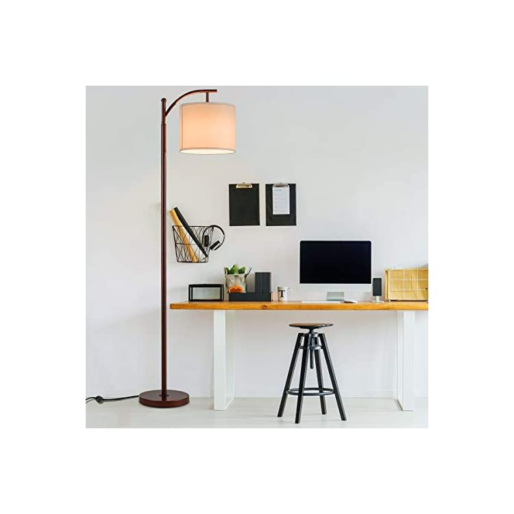 Floor-Lamp,-Classic-Standing-Industrial-Arc-Light-with-Hanging-Lamp-Sh
