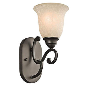45421OZ,-Camerena-Glass-Wall-Sconce-Lighting,-1-Light,-100-Watts,-Olde-Bronze