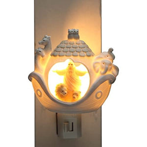 33270-Ceramic-Noah's-Ark-Night-Light,-3-3/8-Inch