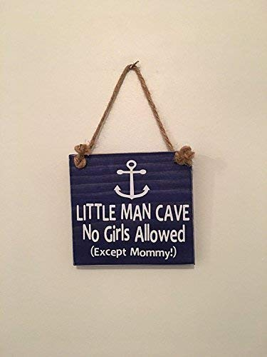 Little-Man-Cave-No-Girls-Allowed---Anchor---Door-Sign---Gift-for-Baby-