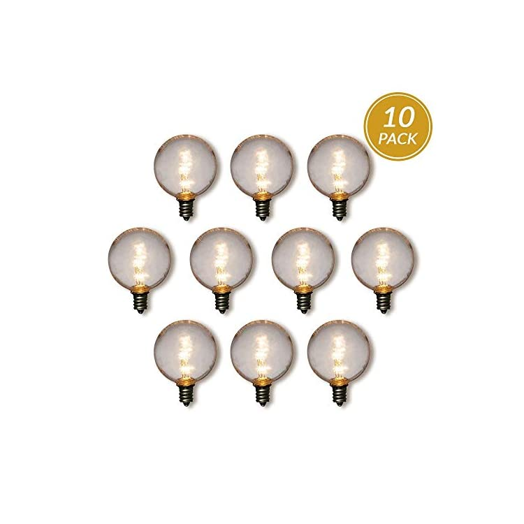 10-Pack-Warm-White-.5-Watt-LED-G40-Globe-Light-Bulb,-Shatterproof,-E12-Candelabra-Base
