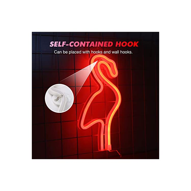 Neon-Red-Flamingo-Signs,-LED-Neon-Signs-for-Wall-Decor,-Led-Safety-Art