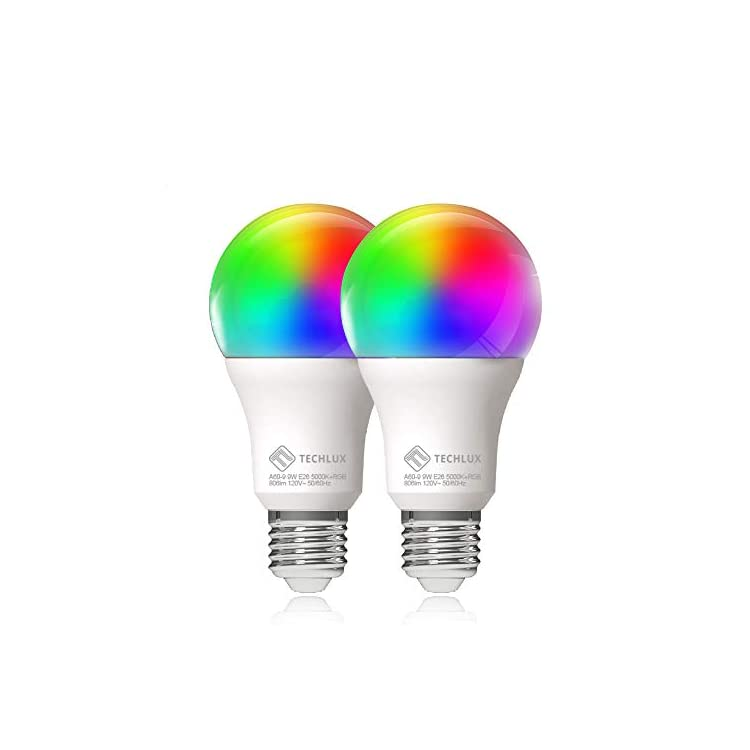 2-Pack-Smart-WiFi-LED-Light-Bulb-A19-RGBCW-Dimmable-and-Cool-White-to-Warm-White,No-Hub-Required,iOS-Andriod-APP-Remote-Controlled,Compatible-with-Alexa-&-Google-Home-Assistant-and-IFTTT,E26