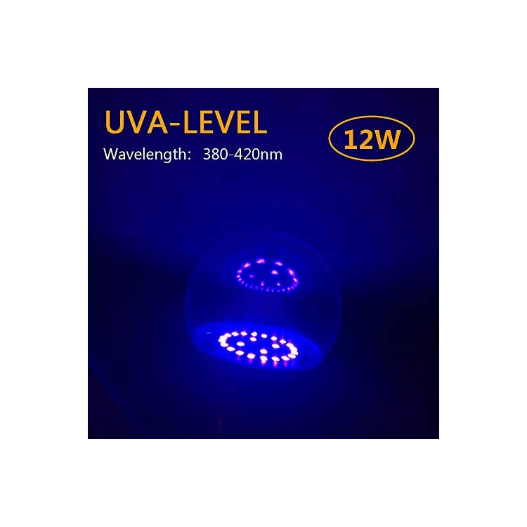 UV-LED-Black-Lights-Bulb,12W-E26-Medium-Base-Bulb,UVA-Level-380-420nm,Glow-in-The-Dark-for-Blacklight-Party,Body-Paint,-Fluorescent-Poster,-Neon-Glow-(4-Pack)