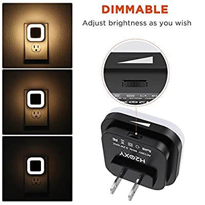 Dimmable-LED-Night-Light---Plug-in-Nightlight-with-Dusk-to-Dawn-Sensor-for-Bedroom,-Kids-Room,-Nursery,-Bathroom,-Kitchen,-Hallway,-Stairs,-Warm-White,-6-Pack