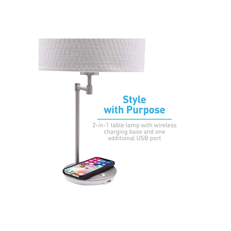 Wireless-Charging-Lamp-with-USB-Port,-LED-Light-Perfect-for-Bedroom,-N