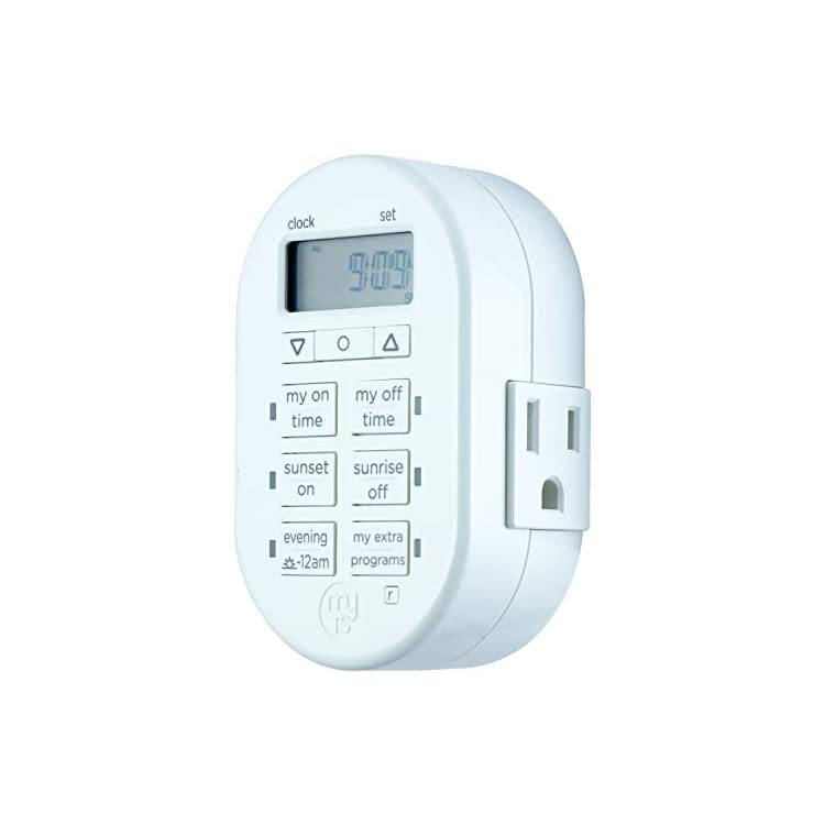 Programmable-Indoor-Digital-Timer,-Plug-in,-1-Outlet-Grounded,-2-Custo