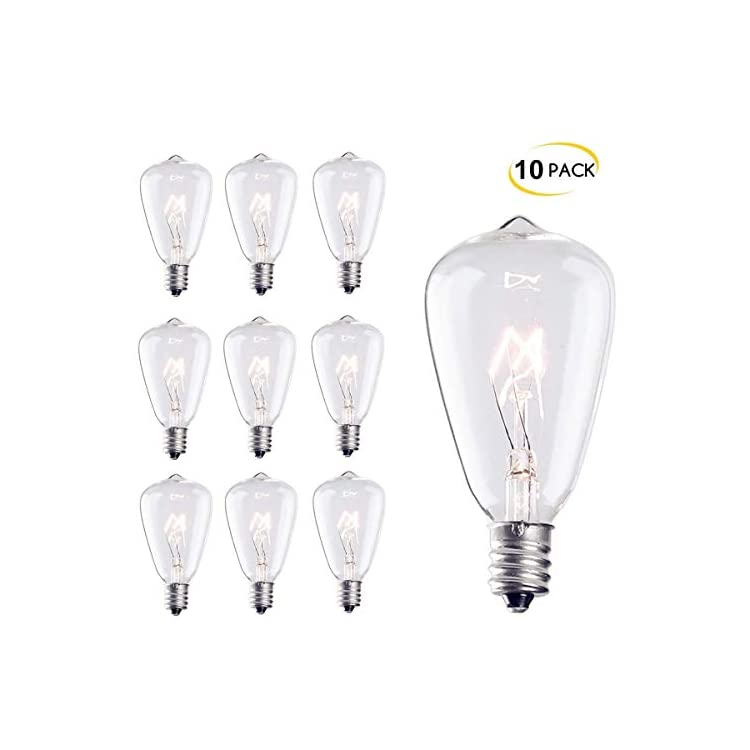 10-Pack-Edison-Replacement-Light-Bulbs,-7-Watt-E12-Candelabra-Base-ST38-Replacement-Clear-Glass-Light-Bulbs-for-Outdoor-Patio-ST38-String-Lights,-Warm-White