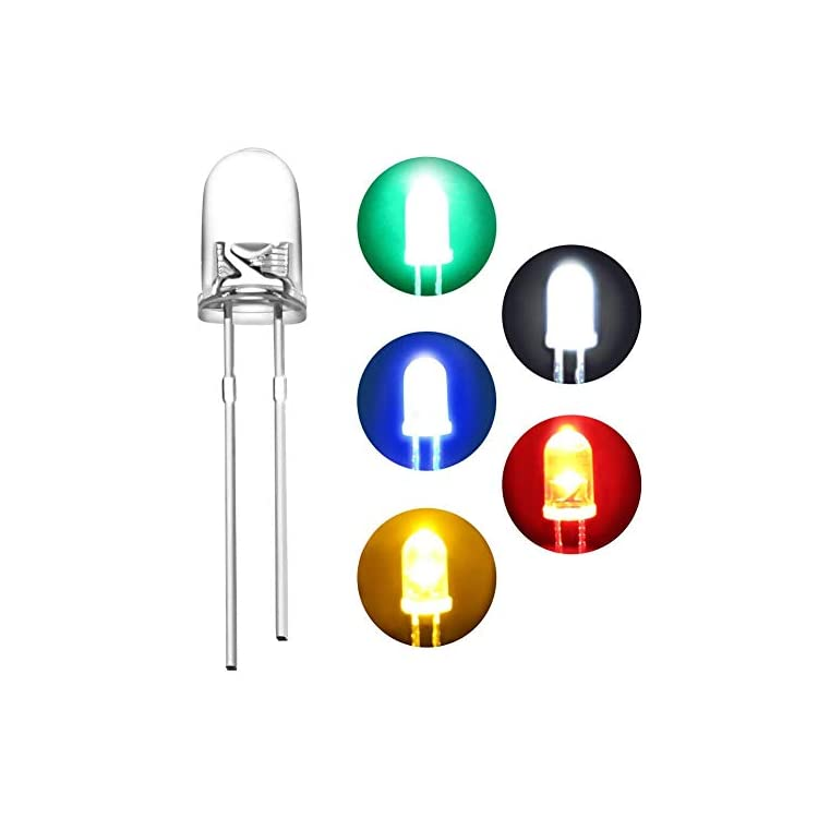 450pcs-5mm-Light-Emitting-Diode-LED-Lamp-Assorted-Kit-White-Red-Yellow-Green-Blue-Yellow-Round-Head-Lights(5-Colors-x-90pcs)