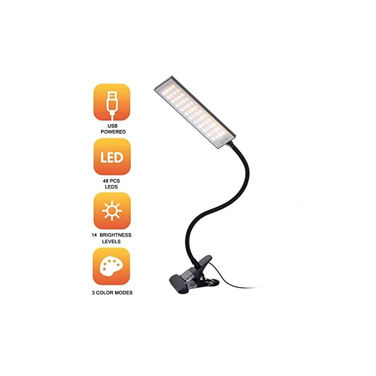 Sanfeya-LED-Desk-Lamp-Dimmable-Clip-Light-14-Level-Brightness-3-Color-
