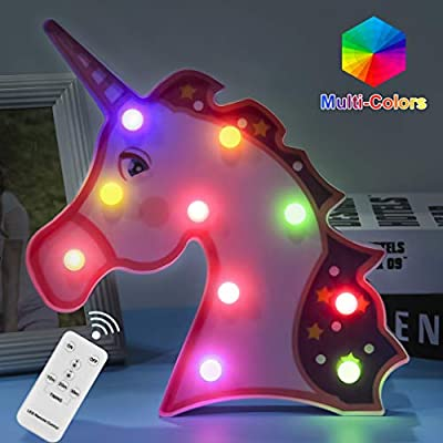 Unicorn-Gifts-Night-Lights-Remote-Control-LED-Lamps-Decor-Supplies-for-5-6-7-8-9-10-11-12-13-Years-Old-Girls-Christmas-Birthday(Purple-Unicorn)