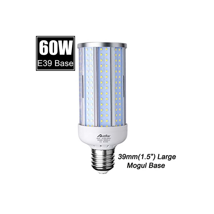 60W-LED-Corn-Light-Bulb-(E39-Large-Mogul-Base)-6000Lm-6500K-Cool-White,-for-Metal-Halide-HID-HPS-Replacement-Garage-Parking-Lot-High-Bay-Warehouse-Street-Lamp-Lighting,-85V-265V