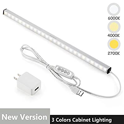 LED-Under-Cabinet-Lighting-Bar-Built-in-Magnets,-Dimmable,-3-Color-Temperature,-14.5-inches,-USB-Powered-Counter-Lighting-Bar,-LED-Closet-Light.-(with-UL-Plug)