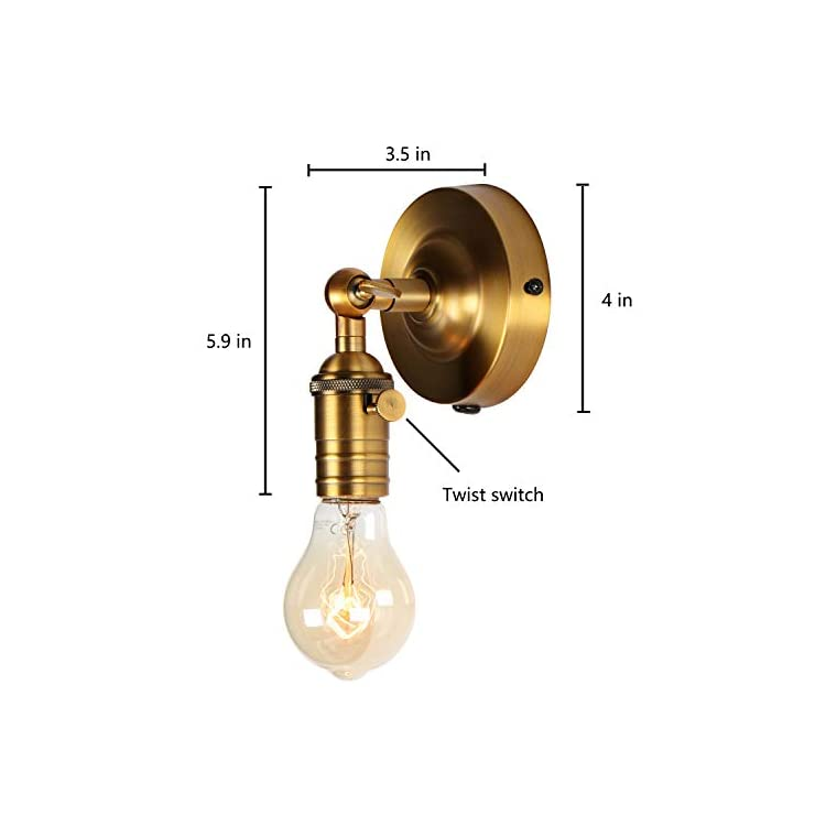 Mini-Wall-Sconce-Fixture,-Upgrade-Matt-Bronze-Finish-Vintage-Wall-Lamp,-Single-Socket-with-Candlestick-Molding-Design,-Industrial-Rustic-Retro-Metal-Wall-Lights,-with-On/Off-Switch.-…