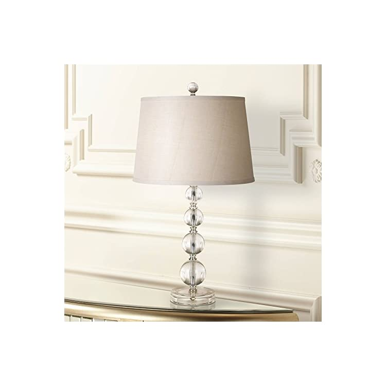 Herminie-Modern-Accent-Table-Lamp-Stacked-Clear-Acrylic-Ball-Open-Desi