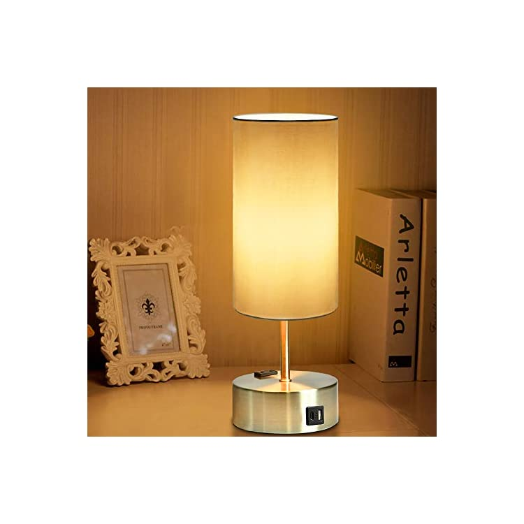 Touch-Table-Lamp-with-USB-and-Type-C-Charging-Port,-Power-Outlet,-3-Wa