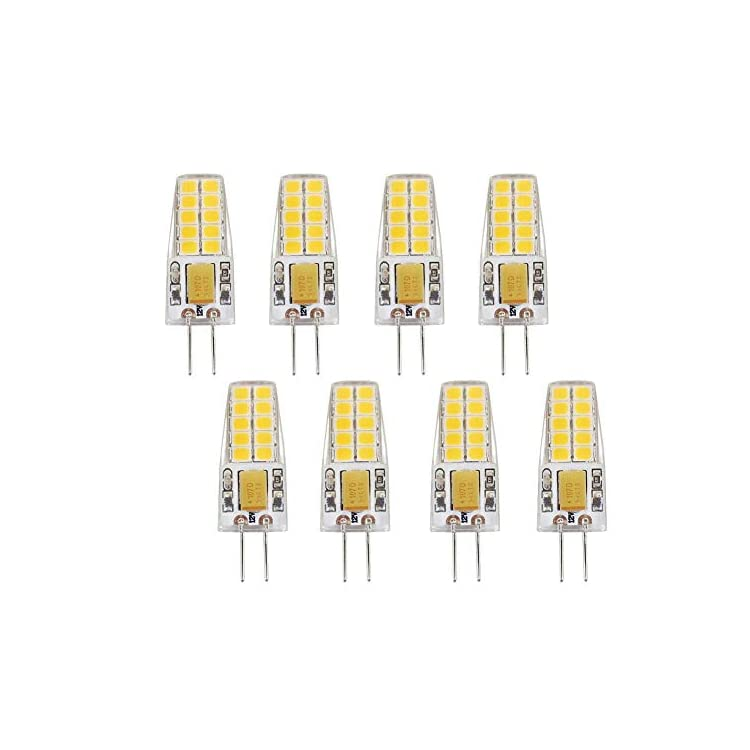 5W-G4-LED-Light-Bulbs(8-Pack)-AC/DC-12V-Bi-Pin-Base-Ceiling-Recessed-Puck-Light-Bulb-LED-Replacement-Halogen-Bulb-50W-Equivalent,360-Degree-Beam-Angle,3000K-Warm-White