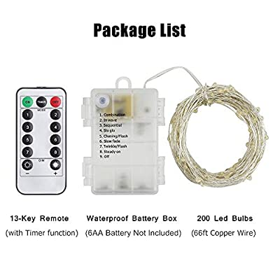 200-LED-String-Lights,-Battery-Operated-Waterproof-Fairy-Lights-with-Remote,-66-ft-8-Modes-Silver-Coated-Copper-Wire-Christmas-Lights-with-Timer-for-Bedroom-Wedding-Party-(White)