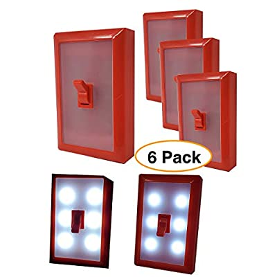 Light-Switch-Night-Light-LED-with-Adhesive-Back-(6-Pack)-for-Kitchen,-RV,-Garage,-Closet,-Kids-Bedroom,-Storage-&-Shed