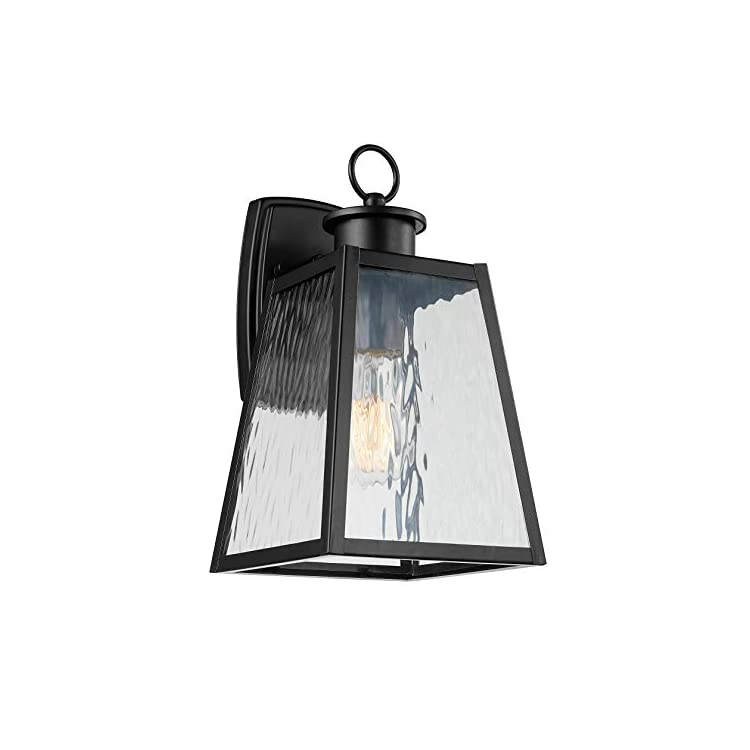 Classic-Wall-Sconce-Light,-12.5'H,-Black