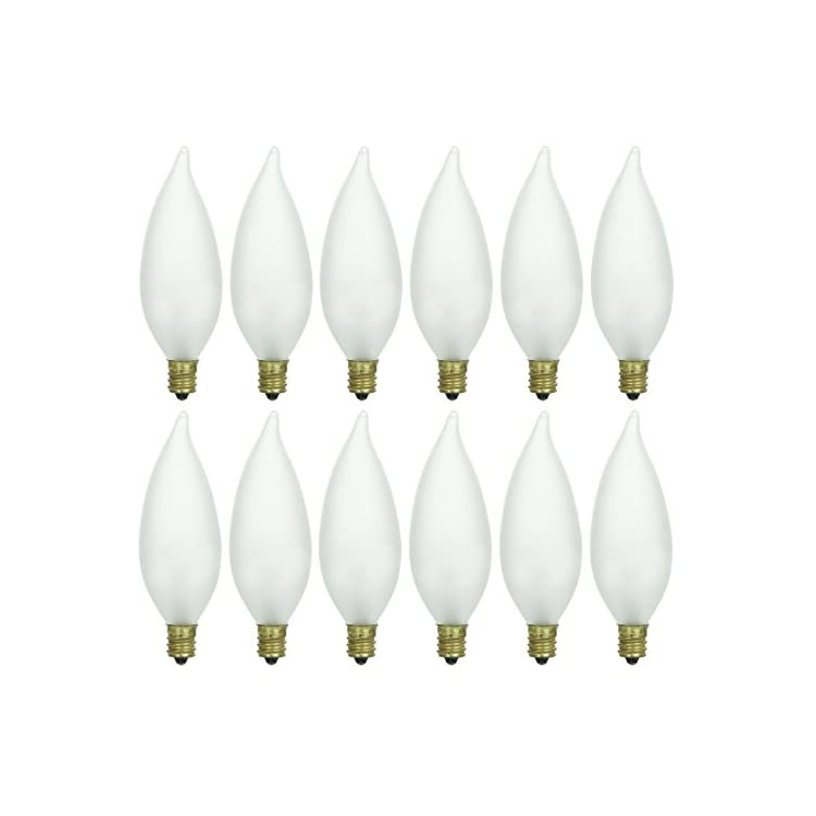 Pack-of-12-25-Watt-CFF-Candelabra-Base-Frosted-Flame-Tip-Shaped-Incandescent-Chandelier-Light-Bulb