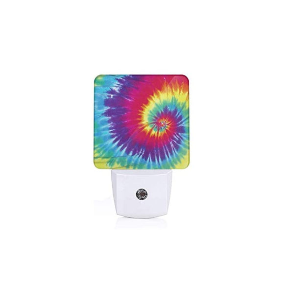 Tie-Dye-Rainbow-Art,-Print-LED-Smart/Automatic-Dusk-to-Dawn-Sensor-Night-Light-(Plug-in)-for-Adult-Indoor-Bedroom-Bathroom-Decorative,-Valentine's-Mother's-Day-Gift-for-Mom-Aunt-Friends