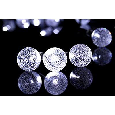 Remote-Control-Crystal-Ball-LED-String-Lights-with-8-Working-Modes-and-Timer-Function,-Waterproof-Indoor/Outdoor-Rope-Lights-(40-LED/15ft-Length,-White-Glow,-Battery-Powered)
